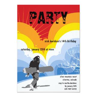Snowboarder's Dream Invitation