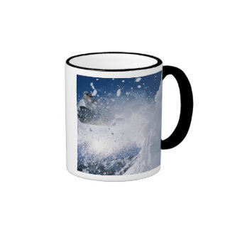 Snowboarding at Snowbird Resort, Wasatch Ringer Mug