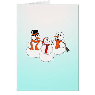 snowman greetingcard greeting card