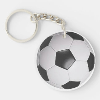 """Soccer Ball"" design gifts and products Double-Sided Round Acrylic Key Ring"