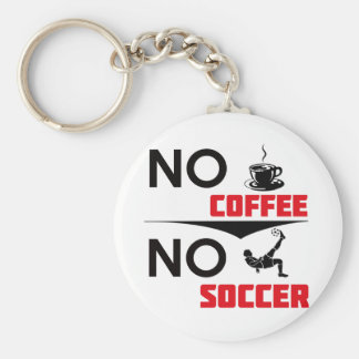 soccer basic round button key ring