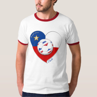 "Soccer ""CHILE"" 2014. National Chilean soccer team T-shirt"