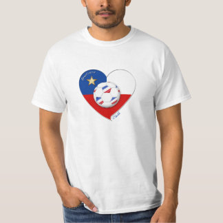 "Soccer ""CHILE"" 2014. National Chilean soccer team T Shirts"
