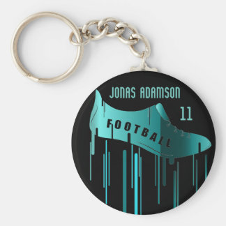 Soccer/Football personalized sports design Basic Round Button Key Ring