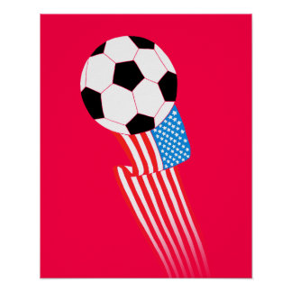 Soccer Poster: Red USA Poster