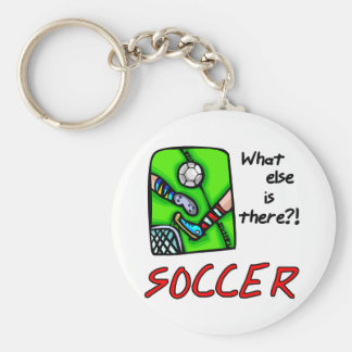 Soccer What Else is There T-shirts and Gifts Basic Round Button Key Ring