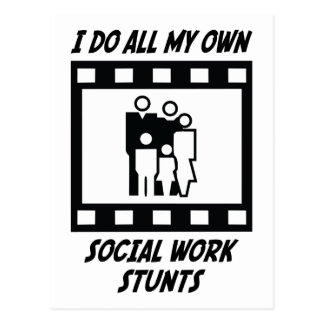 Social Work Stunts Postcard