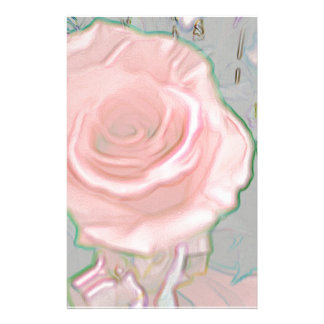 Soft Delicate Pink Hues Artistic Design Personalized Stationery