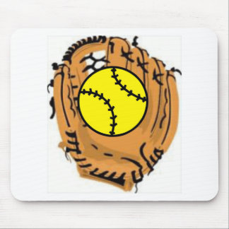 Softball Catcher Mouse Pad