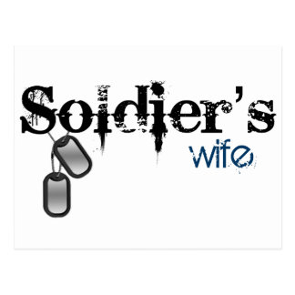 Soldier's Wife Postcard