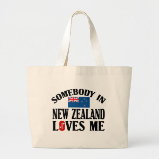 Somebody In New Zealand Loves Me Jumbo Tote Bag
