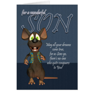Son Birthday Card - With Funky Mouse
