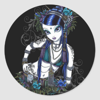 """""""Sonya"""" Tribal Fusion Belly Dancer Stickers"""