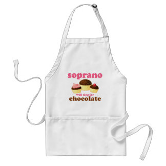 Soprano will Sing for Chocolate Standard Apron