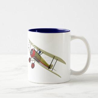 Sopwith Camel and Pilot Two-Tone Mug
