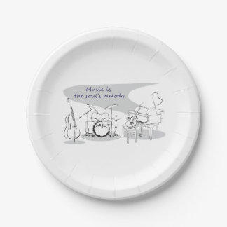 Soul Music 7 Inch Paper Plate