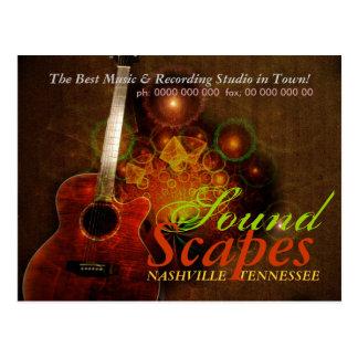 SoundScapes Music Guitar Promotion Postcard