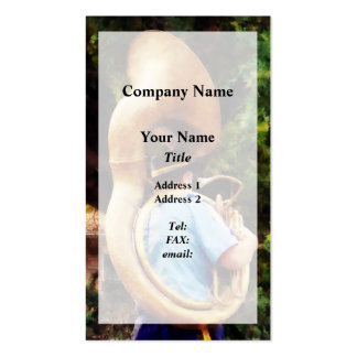 Sousaphone Marching Away Pack Of Standard Business Cards