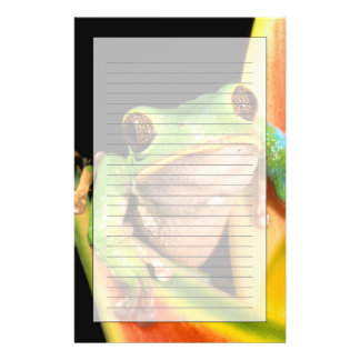 South America, Ecuador, Amazon. Tree frog Personalised Stationery