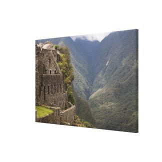 South America, Peru, Machu Picchu. Stone ruins Gallery Wrap Canvas