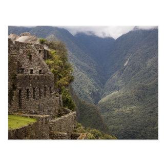 South America, Peru, Machu Picchu. Stone ruins Postcard
