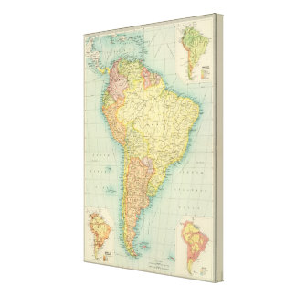 South America political Stretched Canvas Prints