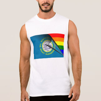 South Dakota Flag Gay Pride Rainbow Sleeveless Shirts