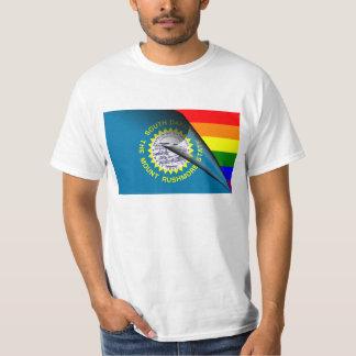 South Dakota Flag Gay Pride Rainbow Tshirts