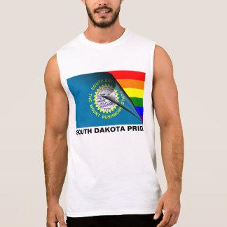 South Dakota Pride LGBT Rainbow Flag Sleeveless T-shirts