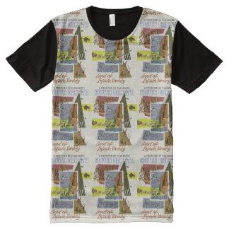 South Dakota Vintage Travel novelty t-shirt All-Over Print T-Shirt