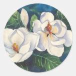 Southern Magnolias Round Sticker