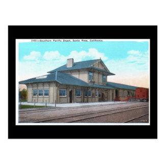 Southern Pacific Depot, Santa Rosa Vintage Postcard