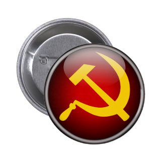 Soviet Russian Hammer and Sickle 6 Cm Round Badge