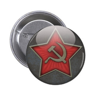 Soviet Star Hammer and Sickle 6 Cm Round Badge