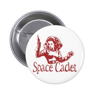 Space Cadet Red 6 Cm Round Badge