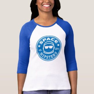 Space Hipsters® Women's Logo 3/4 Sleeve Jersey Tshirt