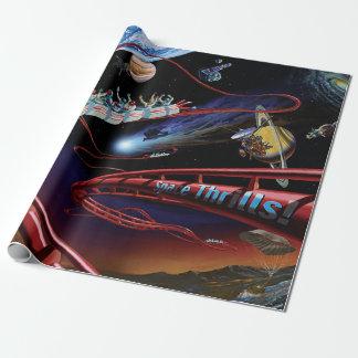 Space Thrills Roller Coaster Artist Concept