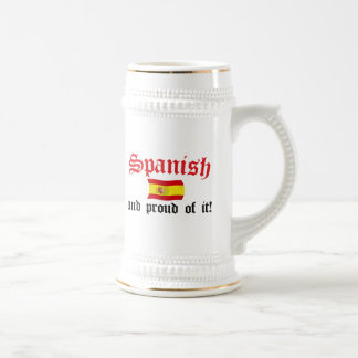 Spanish and Proud of It Beer Steins