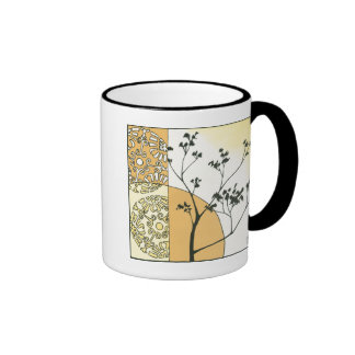 Sparse Tree Silhouette by Megan Meagher Ringer Mug