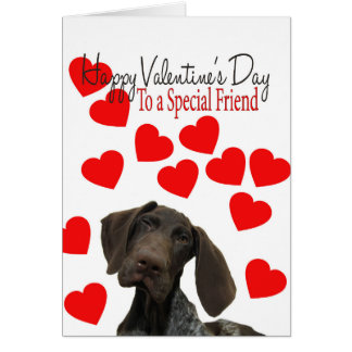 Special Friend Glossy Grizzly Valentine Puppy Love Greeting Card