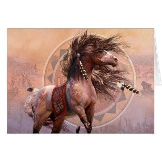 Spirit Warrior Deluxe Designer A7 Noteard Greeting Card