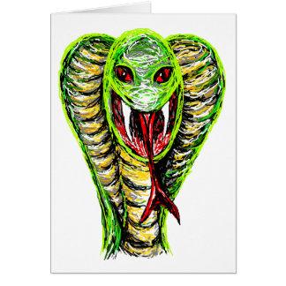 Spitting cobra greeting card
