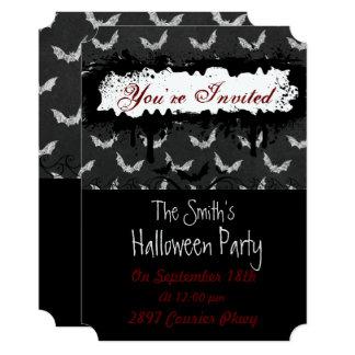 Spooky Bat Halloween Party Invitation