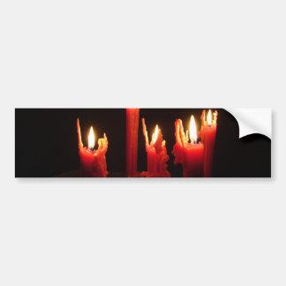 Spooky candles in the dark bumper sticker