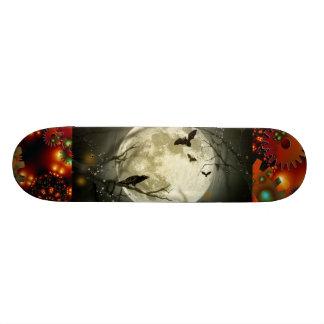 Spooky Moon Night Bird Gear Grunge Rust Destiny Skateboards