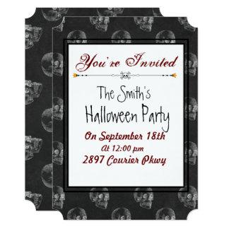 Spooky Skull Halloween Party Invitation