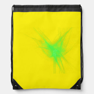 Sport bag yellow drawstring bags