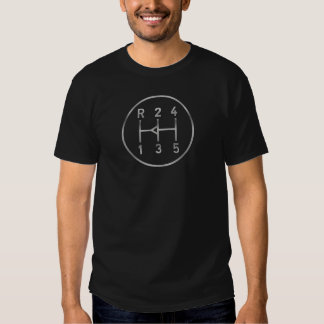 Sports car gear knob, transmission shift pattern tshirts