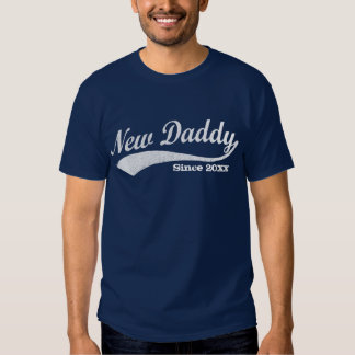Sporty New Daddy T-Shirt, With Custom Year Shirts