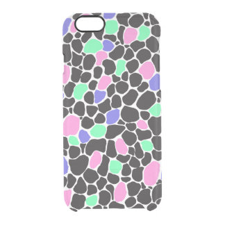 'Spot of Sherbet' Boho Paint Pattern Clear Clear iPhone 6/6S Case